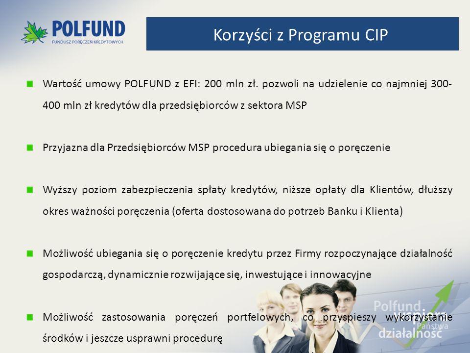 Wartość umowy POLFUND z EFI: 200 mln zł. pozwoli na udzielenie co najmniej 300- 400 mln zł kredytów dla przedsiębiorców z sektora MSP Przyjazna dla Pr
