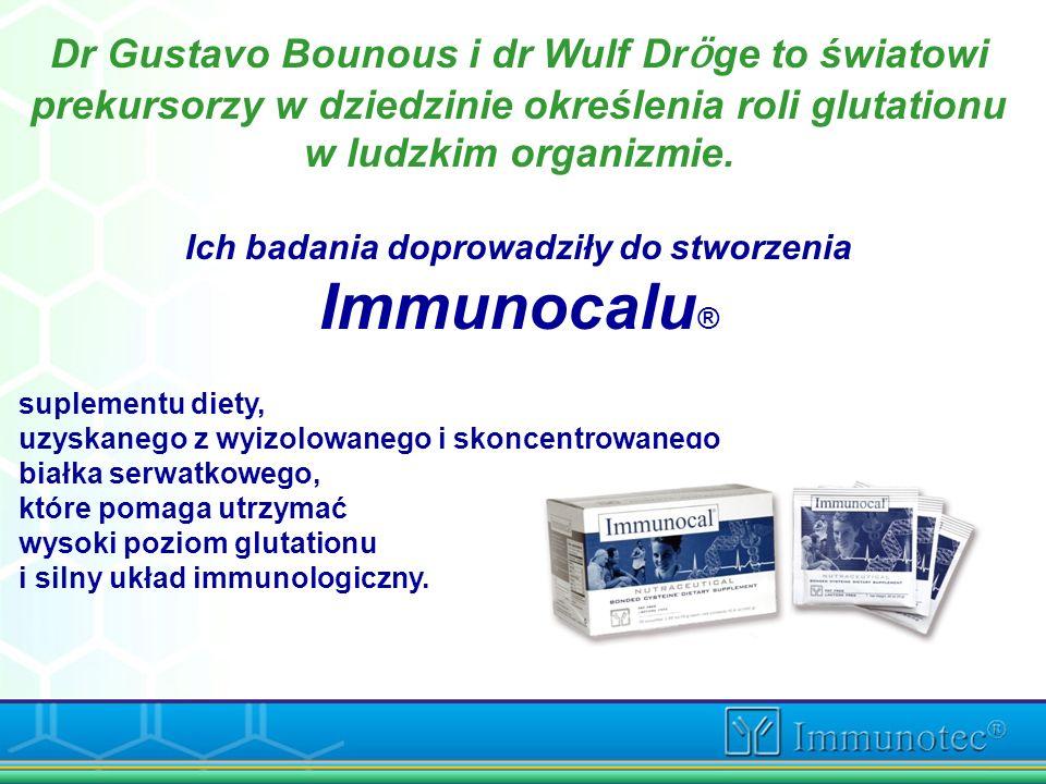 Dr Gustavo Bounous i dr Wulf Dr ӧ ge to światowi prekursorzy w dziedzinie określenia roli glutationu w ludzkim organizmie. Ich badania doprowadziły do