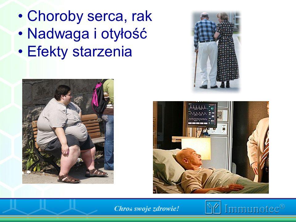 Chro ń swoje zdrowie! Choroby serca, rak Nadwaga i otyłość Efekty starzenia