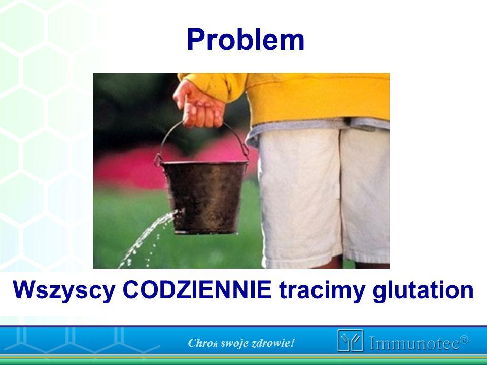 Problem Wszyscy CODZIENNIE tracimy glutation Chro ń swoje zdrowie!