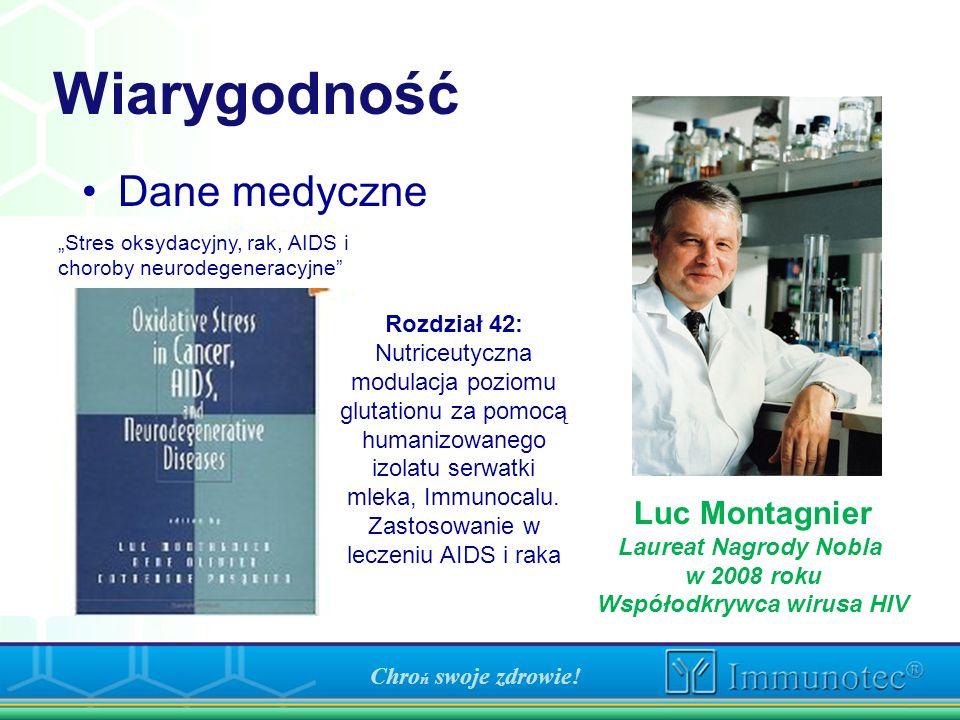 Wiarygodność Dane medyczne Rozdział 42: Nutriceutyczna modulacja poziomu glutationu za pomocą humanizowanego izolatu serwatki mleka, Immunocalu. Zasto
