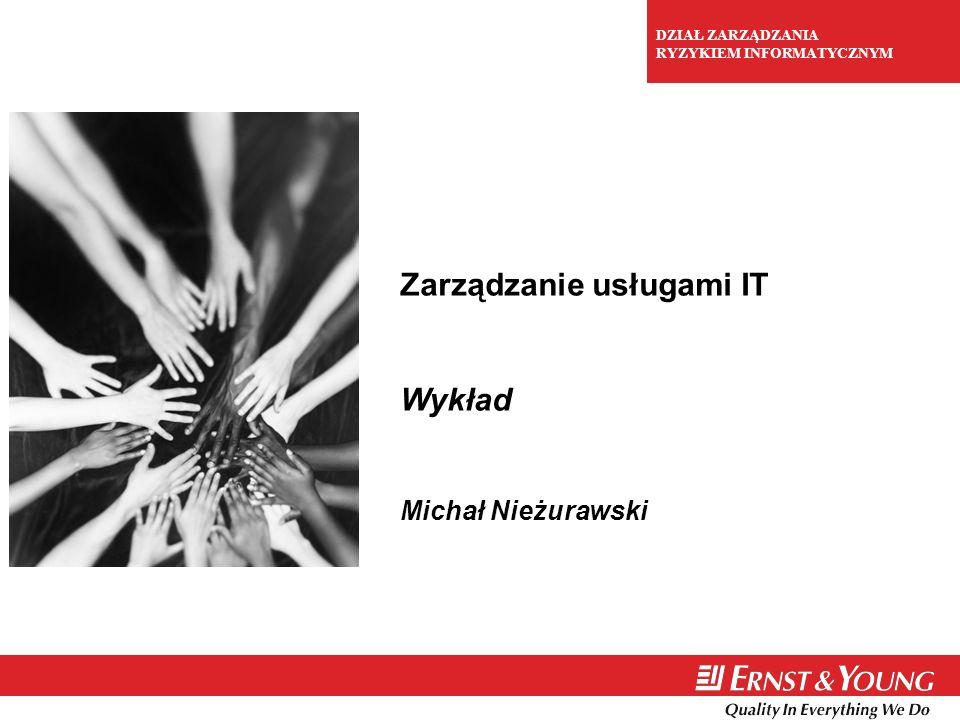1 Zarządzanie usługami IT Wykład Michał Nieżurawski DZIAŁ ZARZĄDZANIA RYZYKIEM INFORMATYCZNYM