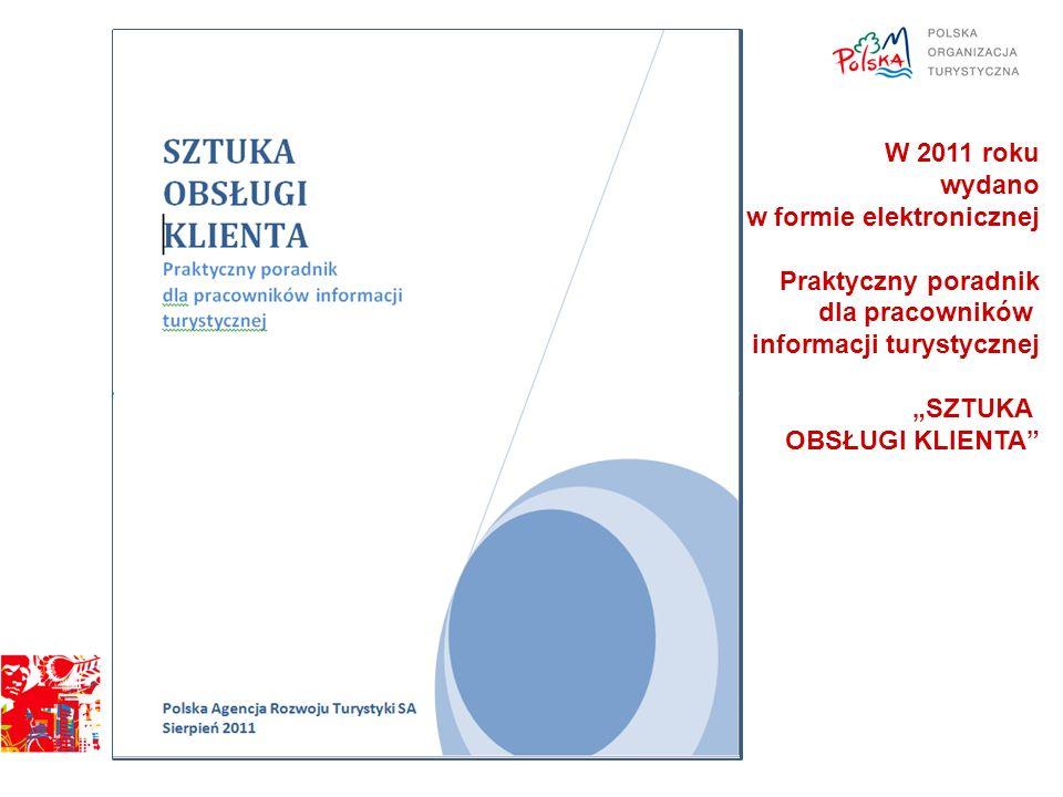 W 2011 roku wydano w formie elektronicznej Praktyczny poradnik dla pracowników informacji turystycznej SZTUKA OBSŁUGI KLIENTA