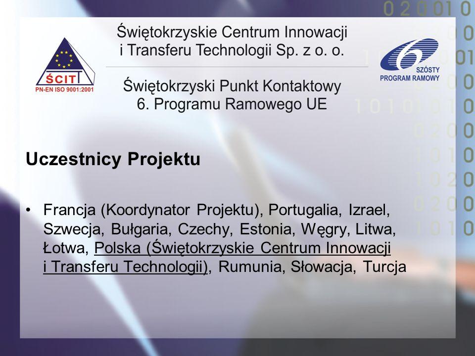 Uczestnicy Projektu Francja (Koordynator Projektu), Portugalia, Izrael, Szwecja, Bułgaria, Czechy, Estonia, Węgry, Litwa, Łotwa, Polska (Świętokrzyski