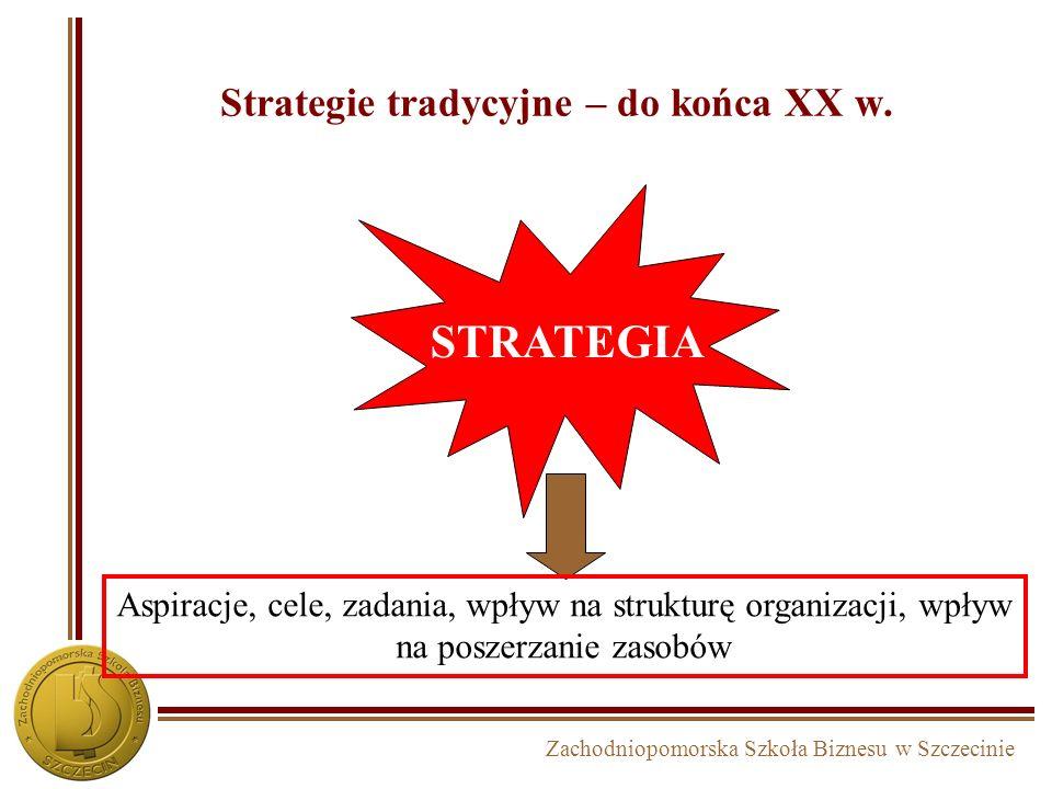 Zachodniopomorska Szkoła Biznesu w Szczecinie 3. Etapy procesu zarządzania strategicznego