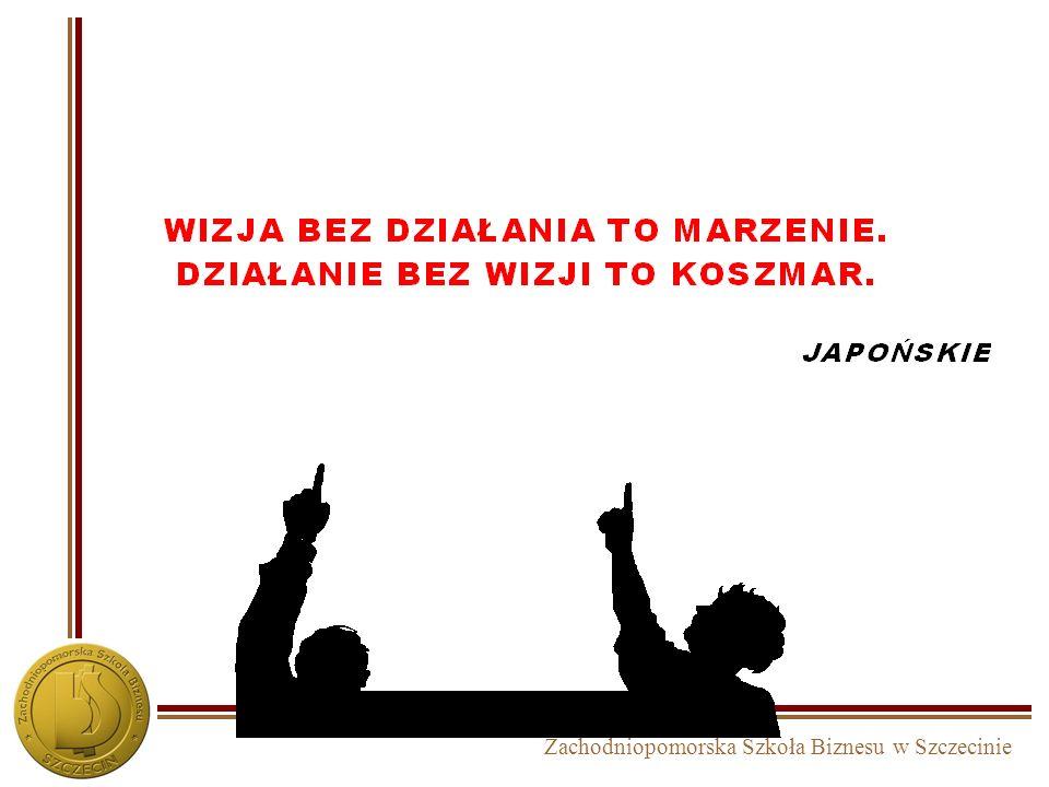 Zachodniopomorska Szkoła Biznesu w Szczecinie Operacjonalizacja strategii Misja i wizja działania Cele strategiczne na poziomie korporacji Cele strate
