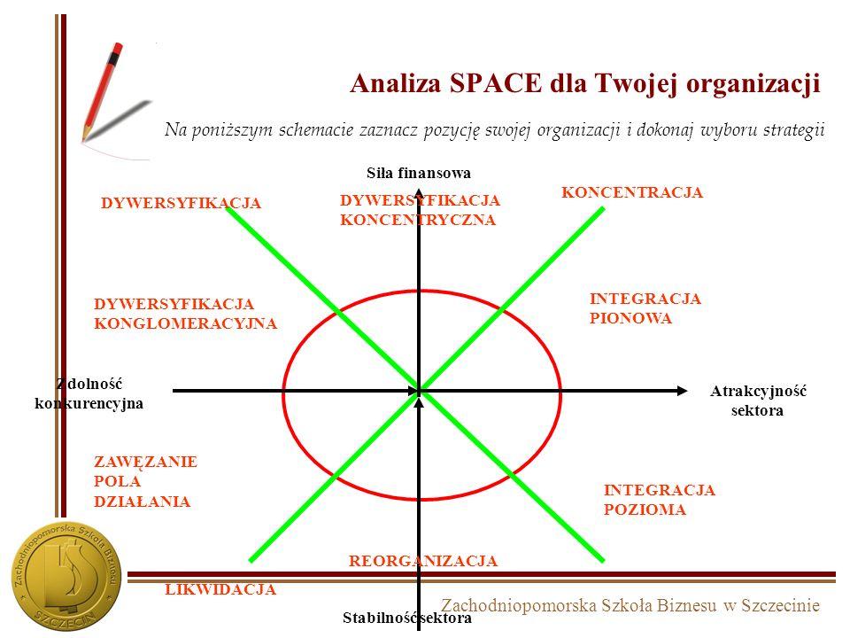 Zachodniopomorska Szkoła Biznesu w Szczecinie Dywersyfikacja konglomeratowa
