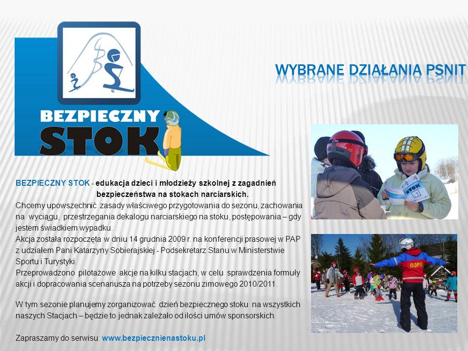 BEZPIECZNY STOK - edukacja dzieci i młodzieży szkolnej z zagadnień bezpieczeństwa na stokach narciarskich. Chcemy upowszechnić zasady właściwego przyg