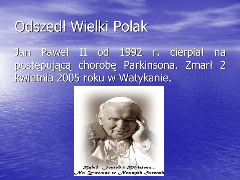 I dlatego pozwólcie, ze zanim odejdę, popatrzę jeszcze stąd na Kraków, w którym każdy kamień i każda cegła jest mi droga – i popatrzę na Polskę… I dla