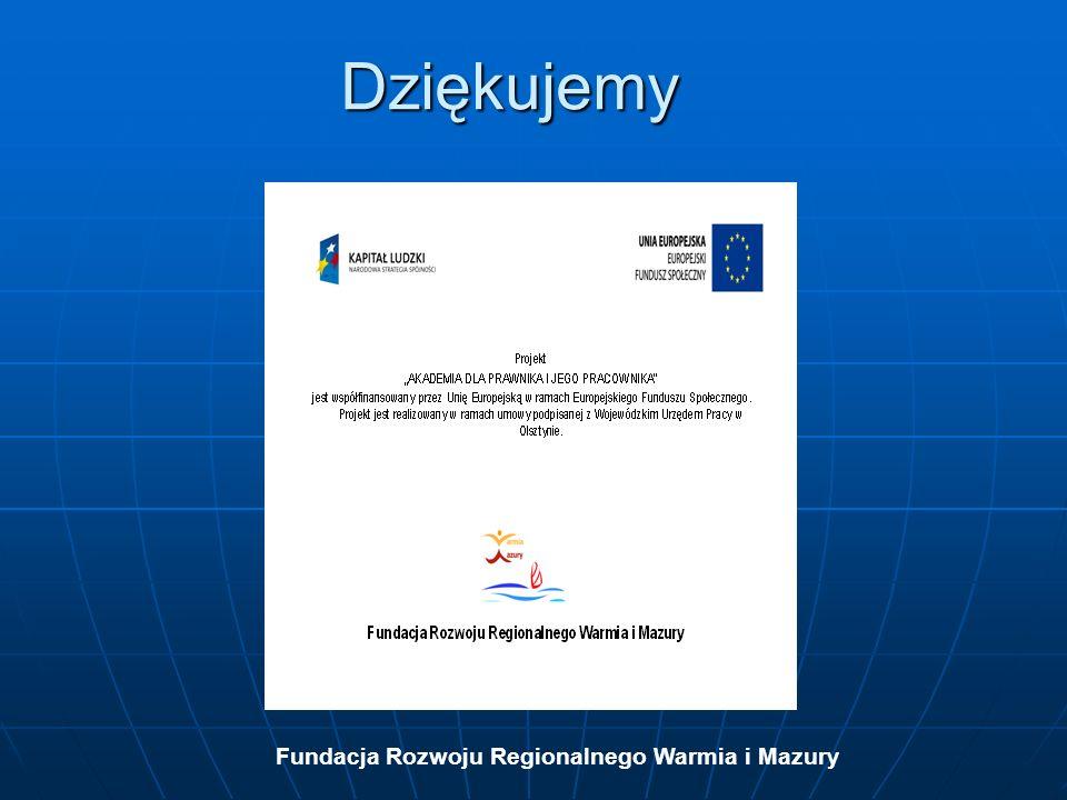 Fundacja Rozwoju Regionalnego Warmia i Mazury Dziękujemy