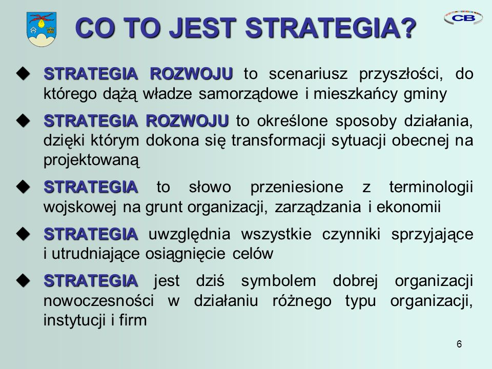 6 CO TO JEST STRATEGIA.