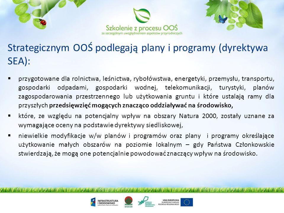 Generalna logika systemu OOŚ Zgodnie z zasadą zapobiegania, analizę wpływu na środowisko prowadzi się na jak najwcześniejszym etapie, przed uchwalenie