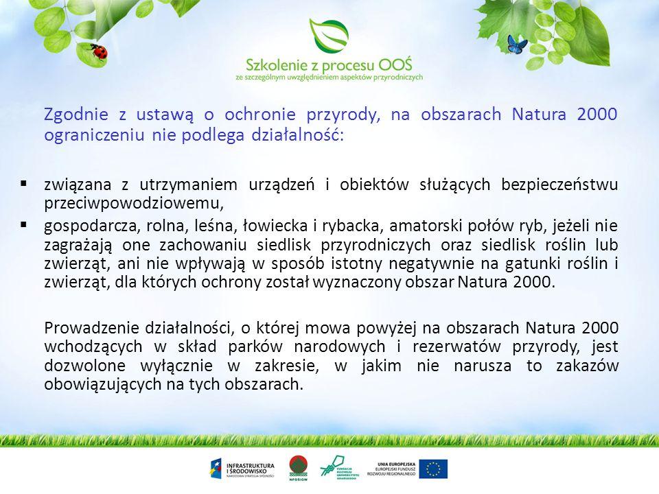 Ustawa z dnia 16 kwietnia 2004 r. o ochronie przyrody wprowadziła nowe formy ochrony przyrody - obszary Natura 2000. Sieć obszarów Natura 2000 obejmuj