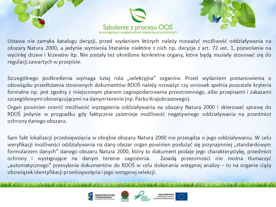 OOŚ na obszarach Natura 2000 to ocena oddziaływania przedsięwzięcia na środowisko ograniczona do badania oddziaływania przedsięwzięcia na obszar Natur