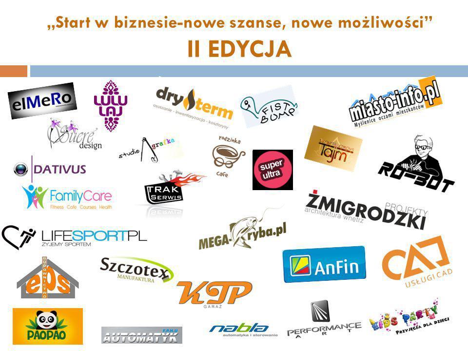 Start w biznesie-nowe szanse, nowe możliwości II EDYCJA