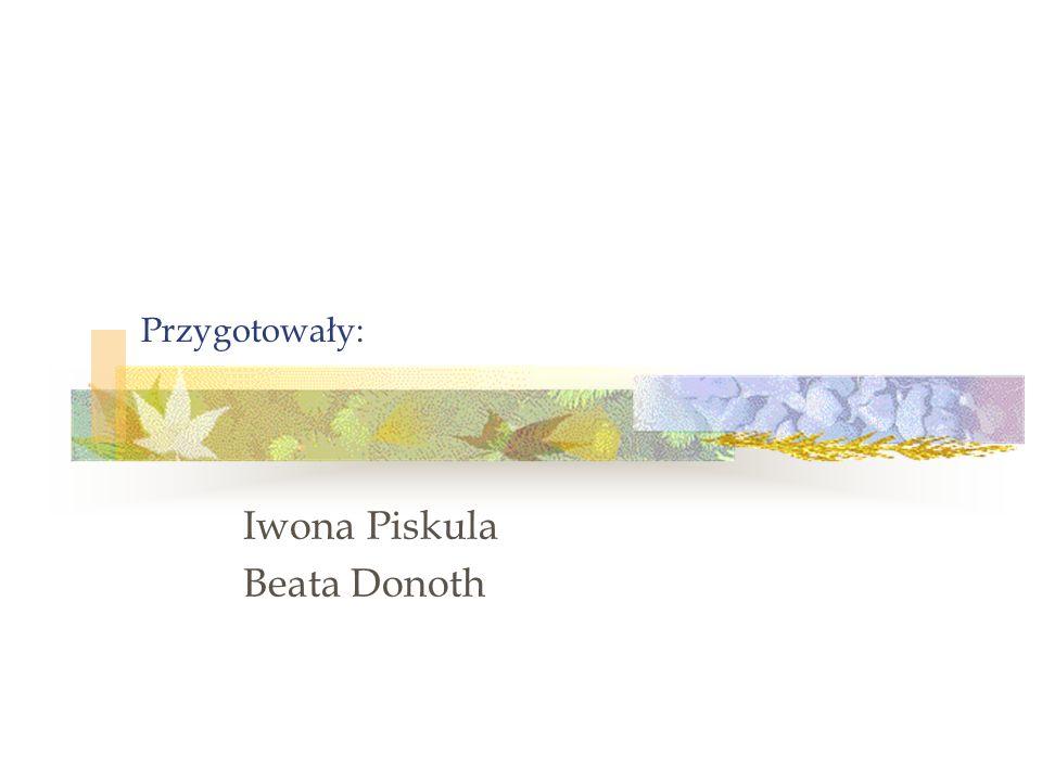 Przygotowały: Iwona Piskula Beata Donoth