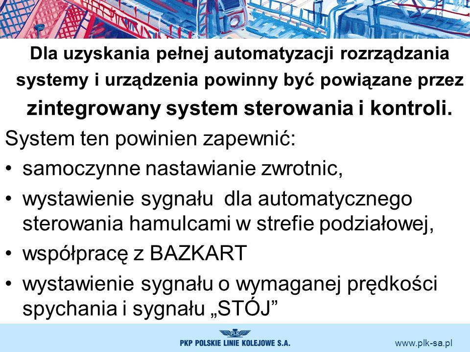 www.plk-sa.pl Dla uzyskania pełnej automatyzacji rozrządzania systemy i urządzenia powinny być powiązane przez zintegrowany system sterowania i kontro