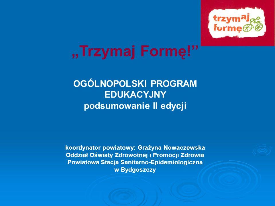 Realizacja II edycja ( 2007 / 2008 ) ogólnopolskiego programu edukacyjnego Trzymaj Formę.
