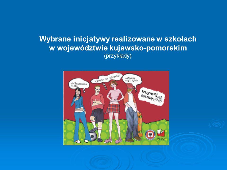 Wybrane inicjatywy realizowane w szkołach w województwie kujawsko-pomorskim (przykłady)