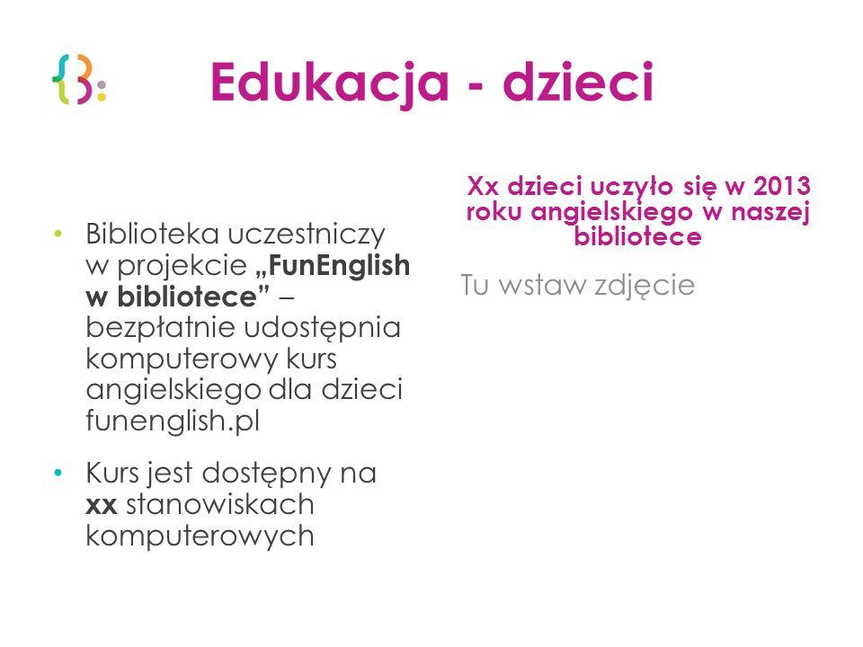 Edukacja - dzieci Biblioteka uczestniczy w projekcie FunEnglish w bibliotece – bezpłatnie udostępnia komputerowy kurs angielskiego dla dzieci funengli