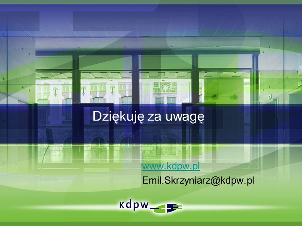 Dziękuję za uwagę www.kdpw.pl Emil.Skrzyniarz@kdpw.pl