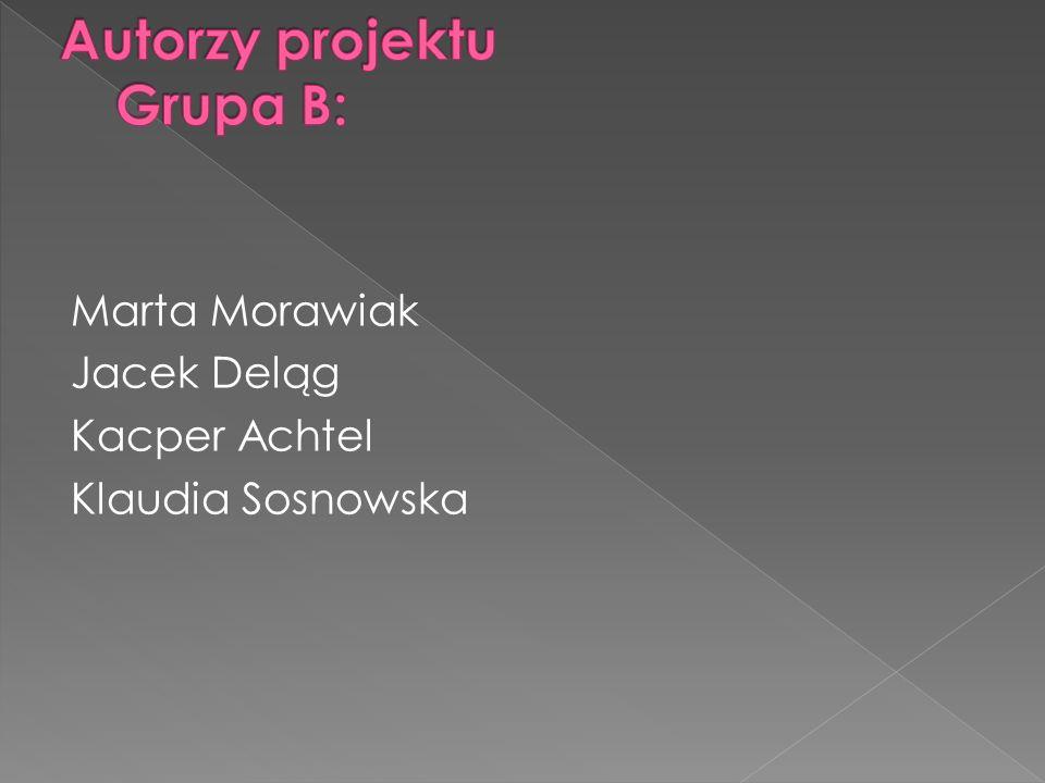 Marta Morawiak Jacek Deląg Kacper Achtel Klaudia Sosnowska