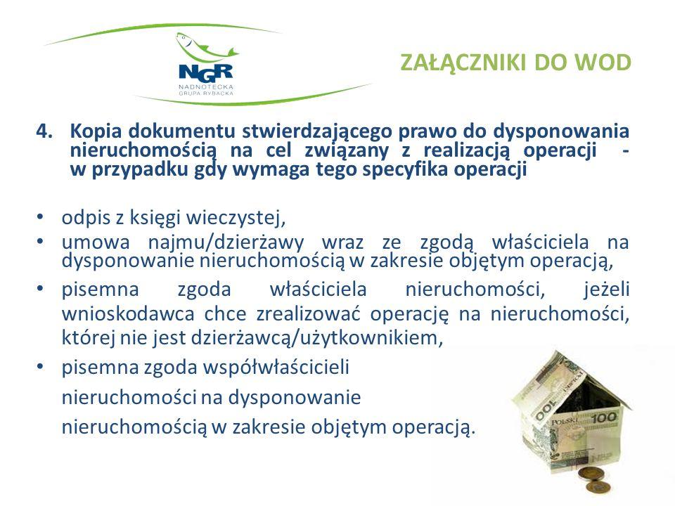 ZAŁĄCZNIKI DO WOD 4.Kopia dokumentu stwierdzającego prawo do dysponowania nieruchomością c.d.