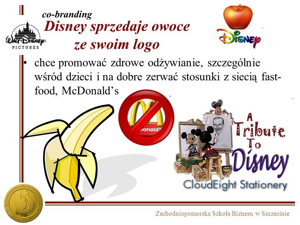 Zachodniopomorska Szkoła Biznesu w Szczecinie Disney sprzedaje owoce ze swoim logo chce promować zdrowe odżywianie, szczególnie wśród dzieci i na dobr