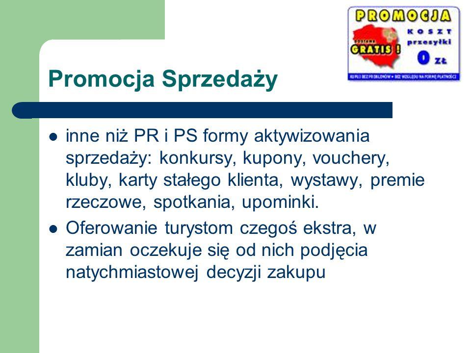 Promocja Sprzedaży inne niż PR i PS formy aktywizowania sprzedaży: konkursy, kupony, vouchery, kluby, karty stałego klienta, wystawy, premie rzeczowe,