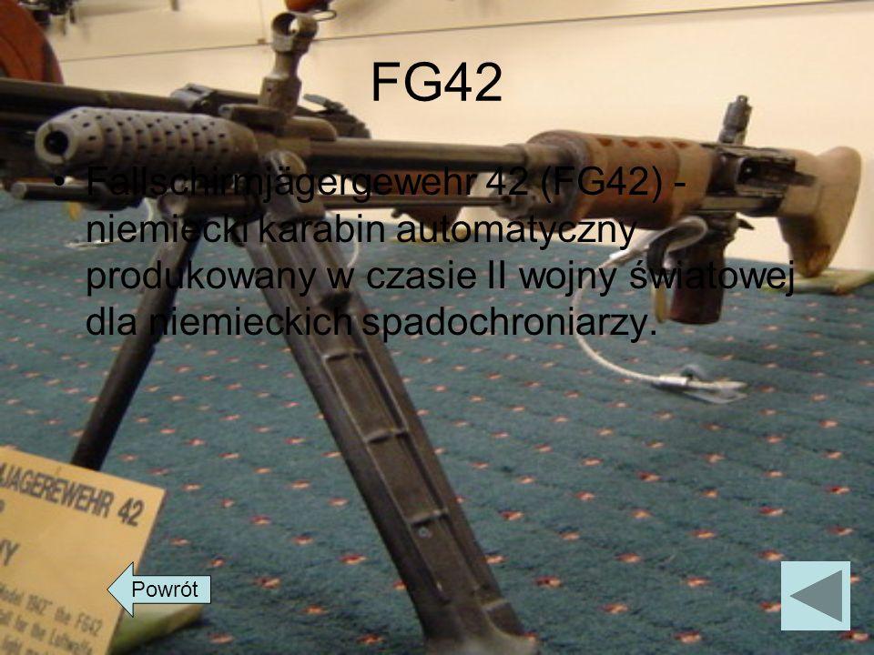 FG42 Fallschirmjägergewehr 42 (FG42) - niemiecki karabin automatyczny produkowany w czasie II wojny światowej dla niemieckich spadochroniarzy. Powrót
