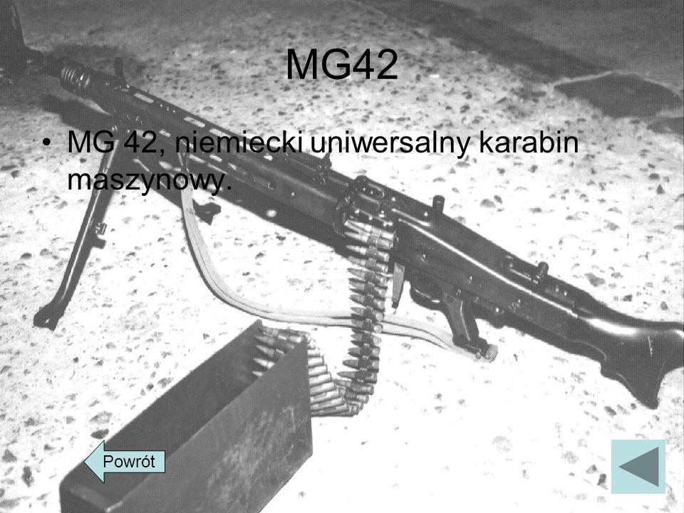 MG42 MG 42, niemiecki uniwersalny karabin maszynowy. Powrót