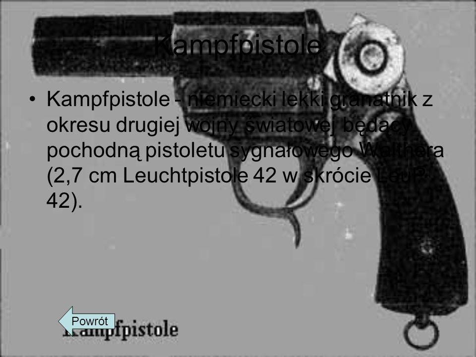 Kampfpistole Kampfpistole - niemiecki lekki granatnik z okresu drugiej wojny światowej będący pochodną pistoletu sygnałowego Walthera (2,7 cm Leuchtpi