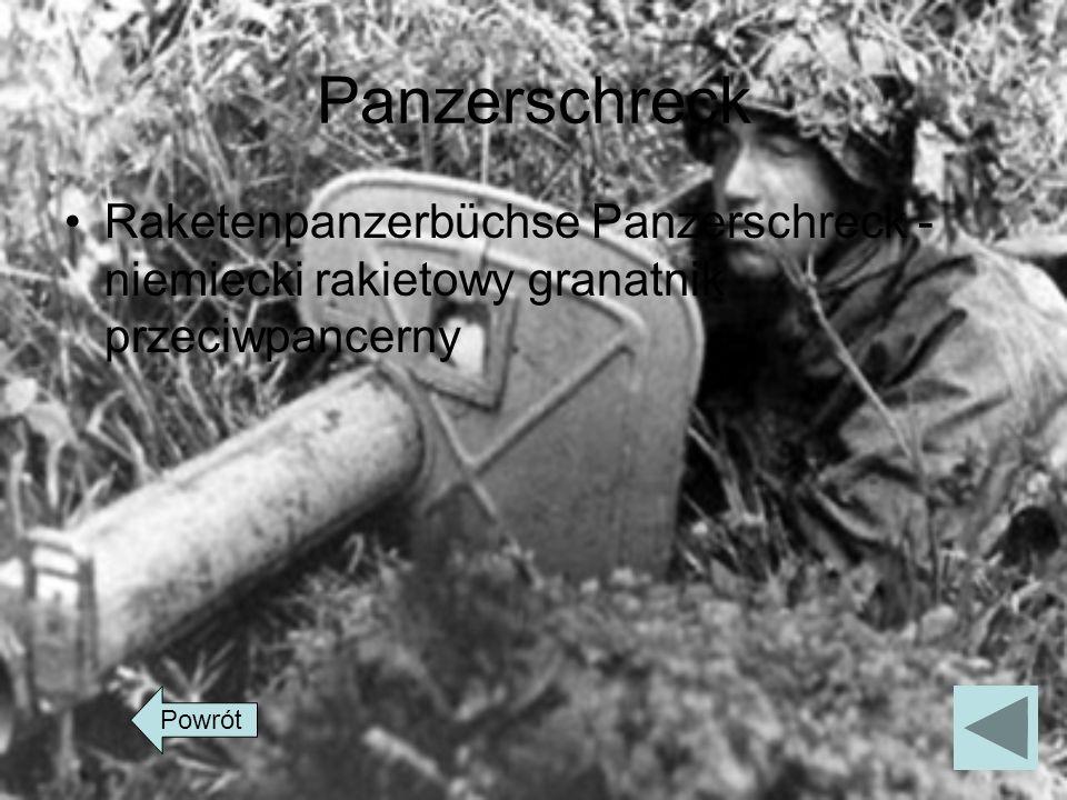 Panzerschreck Raketenpanzerbüchse Panzerschreck - niemiecki rakietowy granatnik przeciwpancerny Powrót