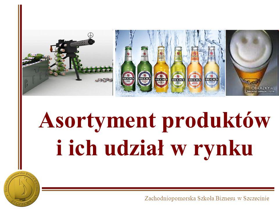 Zachodniopomorska Szkoła Biznesu w Szczecinie Asortyment produktów i ich udział w rynku