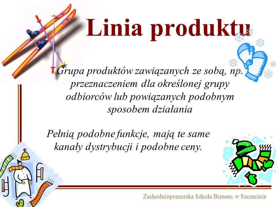 Zachodniopomorska Szkoła Biznesu w Szczecinie Linia produktu Grupa produktów zawiązanych ze sobą, np. przeznaczeniem dla określonej grupy odbiorców lu