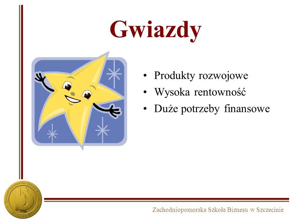 Zachodniopomorska Szkoła Biznesu w Szczecinie Gwiazdy Produkty rozwojowe Wysoka rentowność Duże potrzeby finansowe