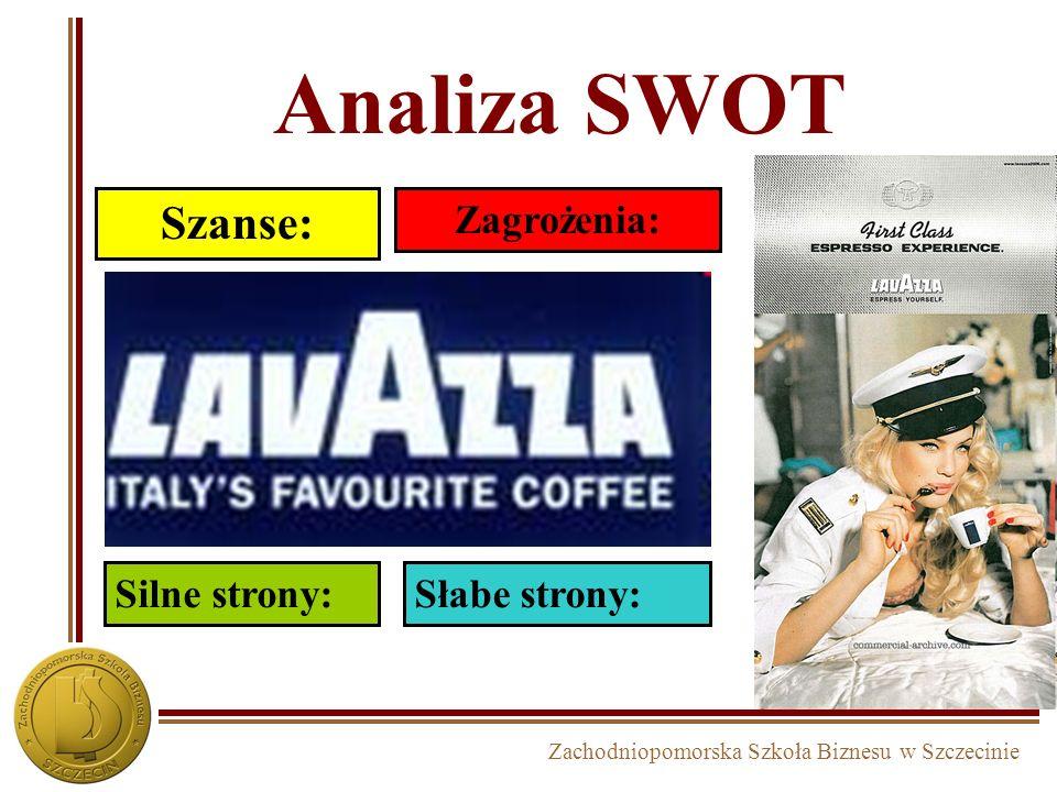 Zachodniopomorska Szkoła Biznesu w Szczecinie Analiza SWOT Szanse: Zagrożenia: Silne strony:Słabe strony: