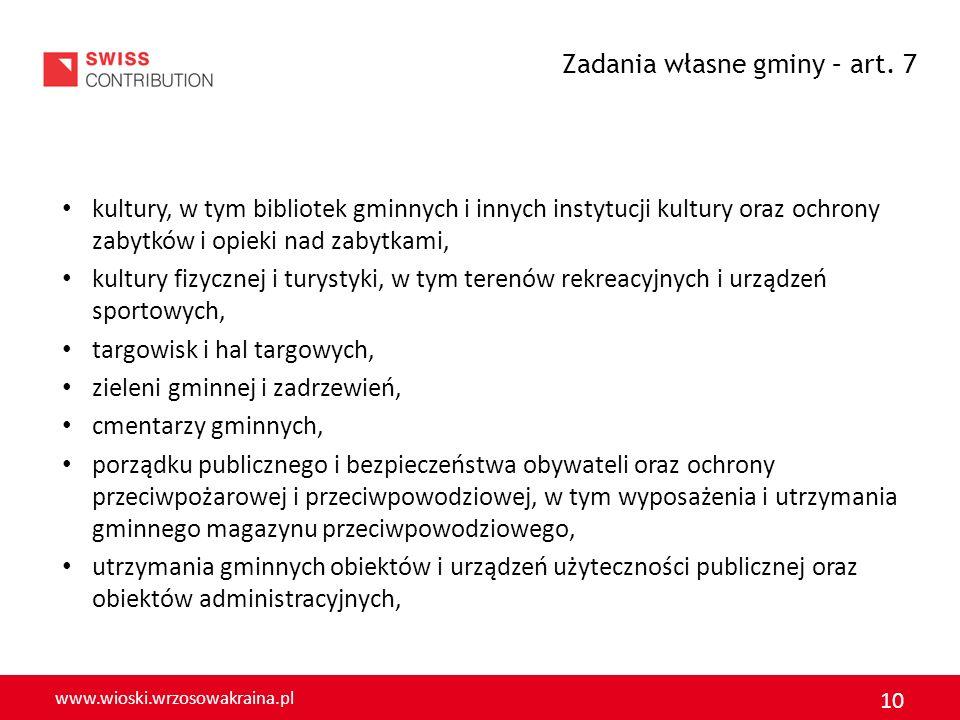 www.wioski.wrzosowakraina.pl 10 kultury, w tym bibliotek gminnych i innych instytucji kultury oraz ochrony zabytków i opieki nad zabytkami, kultury fi
