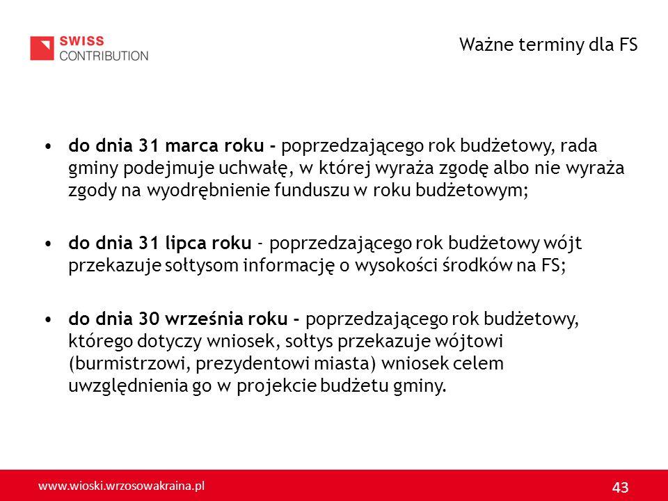 www.wioski.wrzosowakraina.pl 43 do dnia 31 marca roku - poprzedzającego rok budżetowy, rada gminy podejmuje uchwałę, w której wyraża zgodę albo nie wy