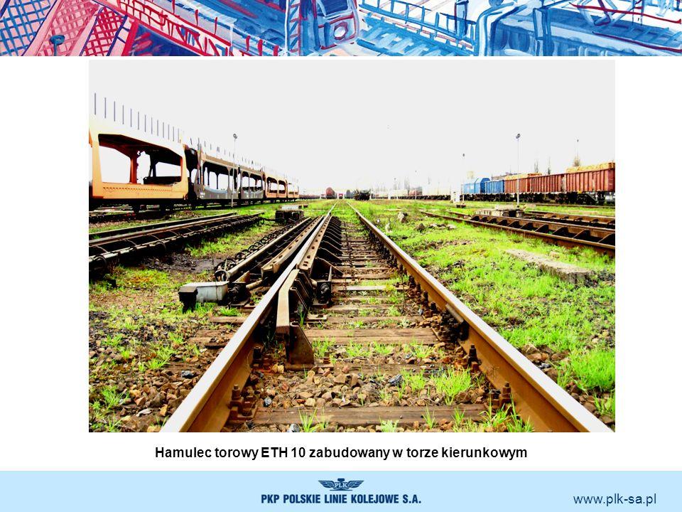 www.plk-sa.pl Hamulec torowy ETH 10 zabudowany w torze kierunkowym