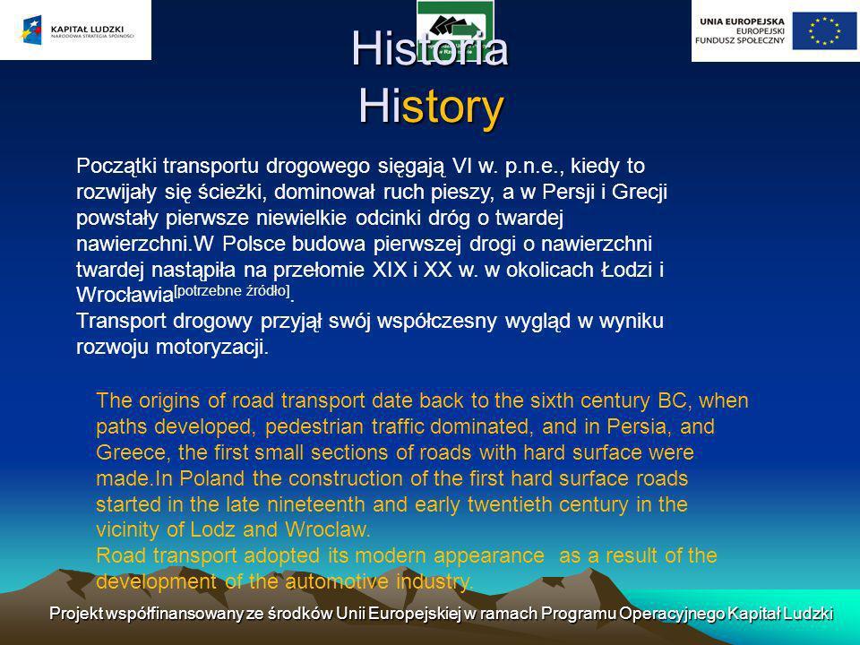 Początki transportu drogowego sięgają VI w. p.n.e., kiedy to rozwijały się ścieżki, dominował ruch pieszy, a w Persji i Grecji powstały pierwsze niewi