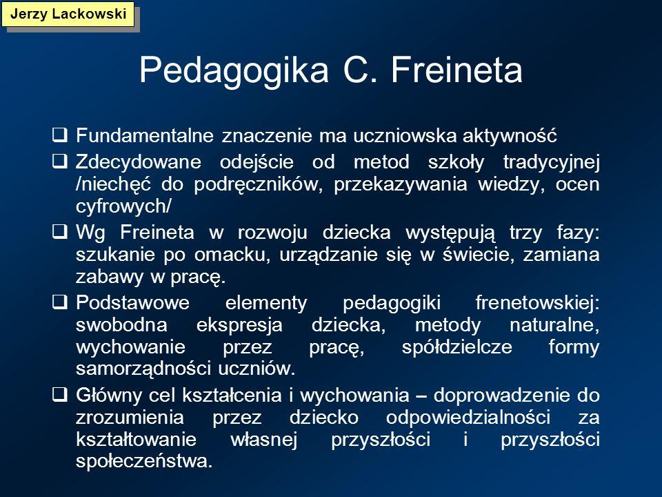 Pedagogika M. Montessori Cele – rozwijanie indywidualnych cech osobowości, formowanie prawidłowego charakteru, zdobywanie wiedzy i umiejętności, kreow