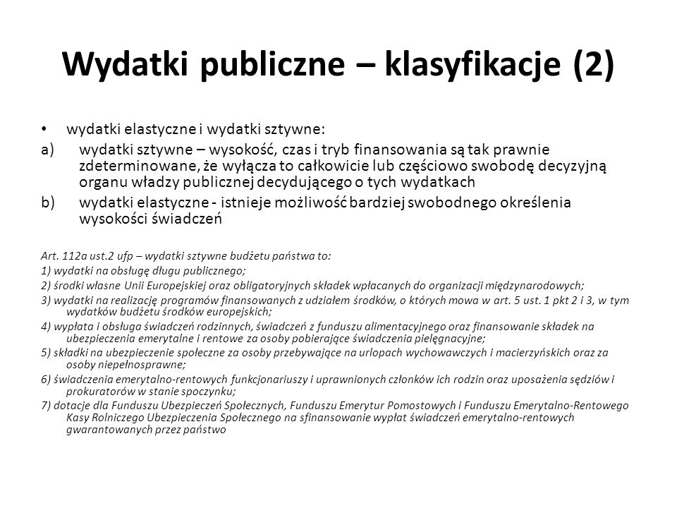 Rozchody publiczne Art.6 ust.