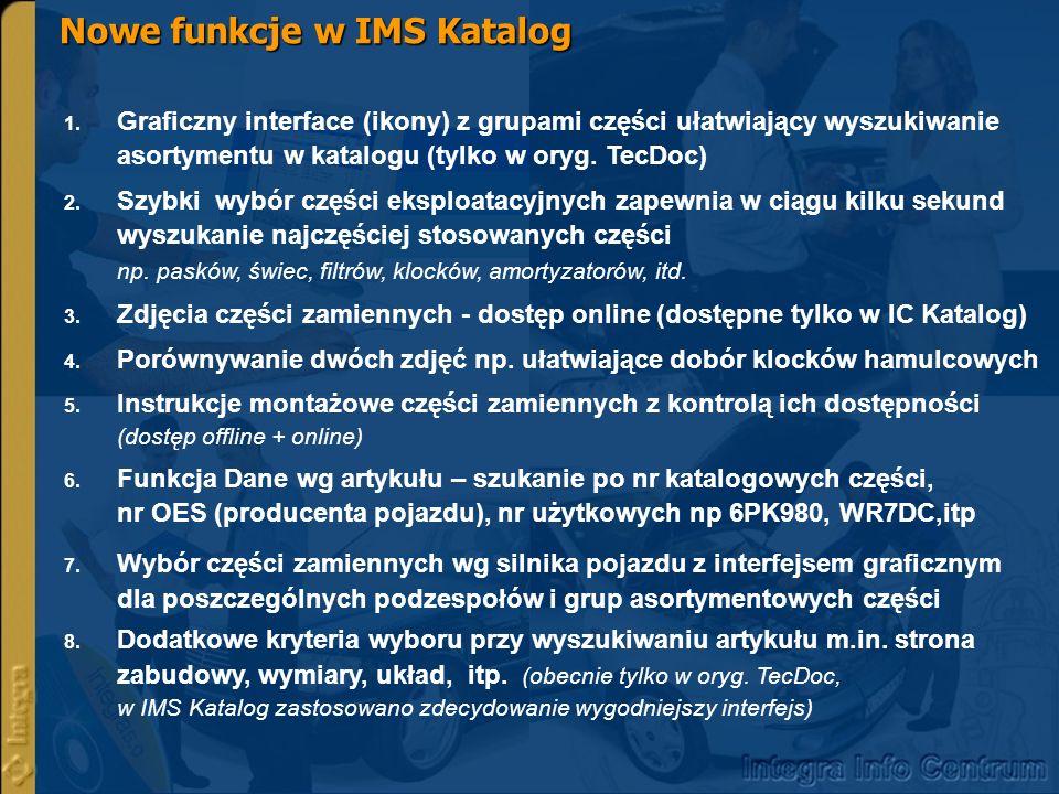 Nowe funkcje w IMS Katalog 1. 1.