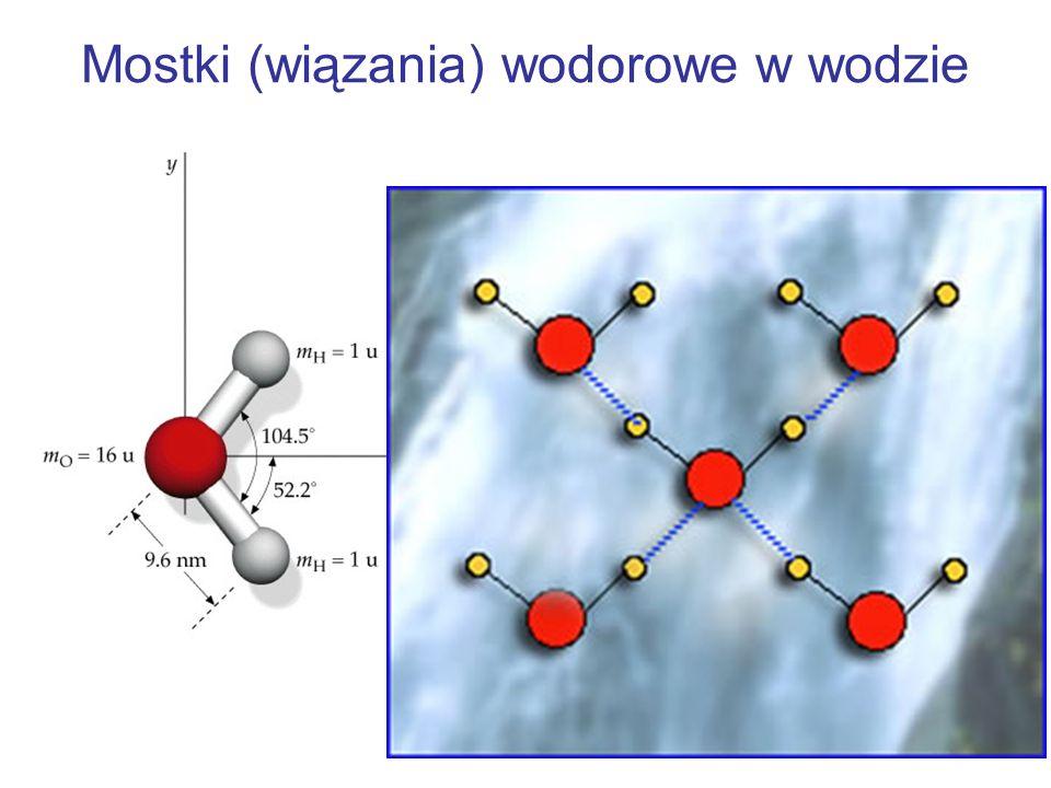 Mostki (wiązania) wodorowe w wodzie