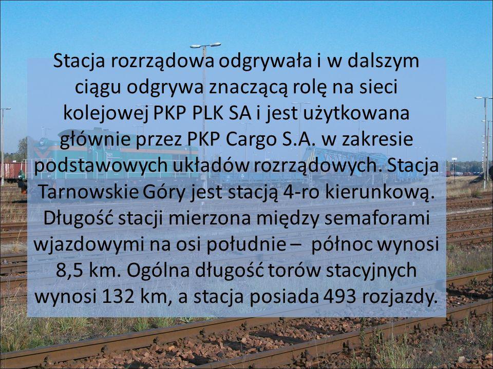 Stacja rozrządowa odgrywała i w dalszym ciągu odgrywa znaczącą rolę na sieci kolejowej PKP PLK SA i jest użytkowana głównie przez PKP Cargo S.A. w zak