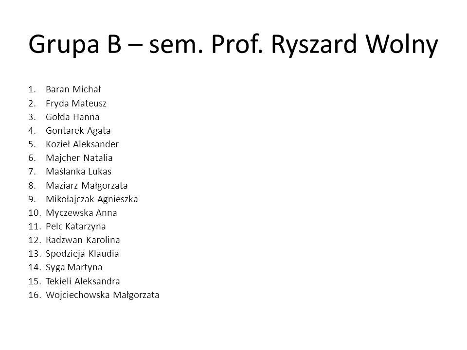 Grupa C – sem.Prof.
