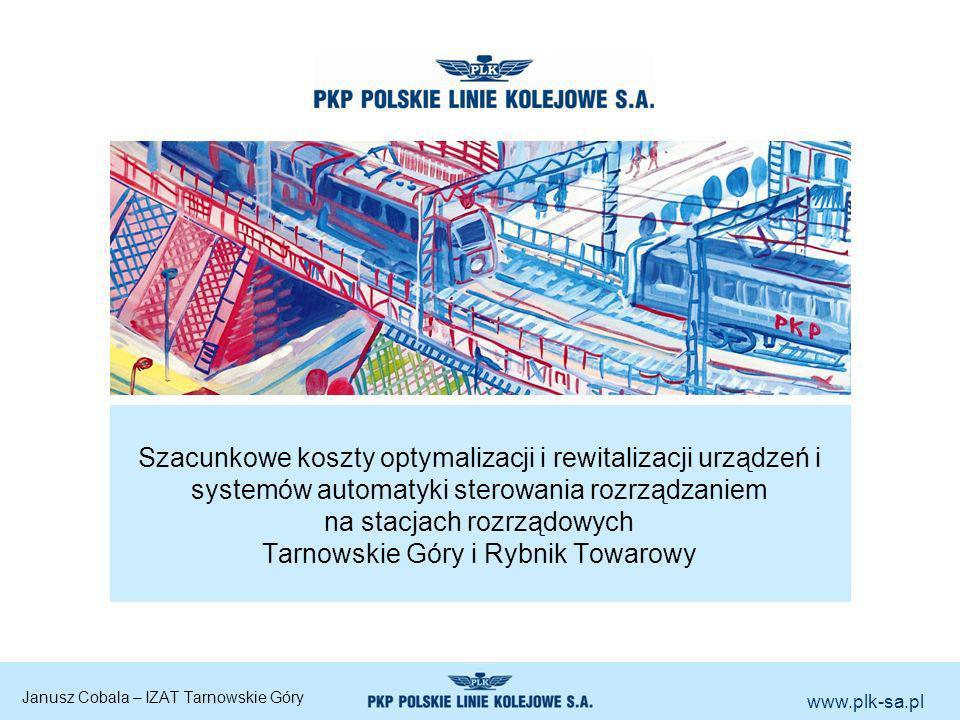 www.plk-sa.pl Szacunkowe koszty optymalizacji i rewitalizacji urządzeń i systemów automatyki sterowania rozrządzaniem na stacjach rozrządowych Tarnows