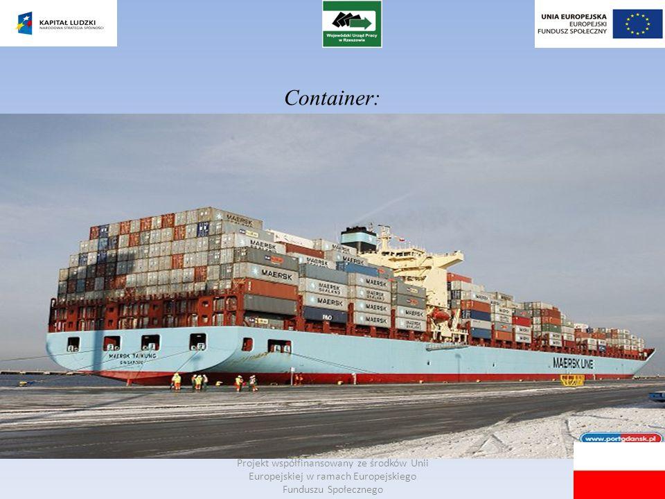 Projekt współfinansowany ze środków Unii Europejskiej w ramach Europejskiego Funduszu Społecznego Container: