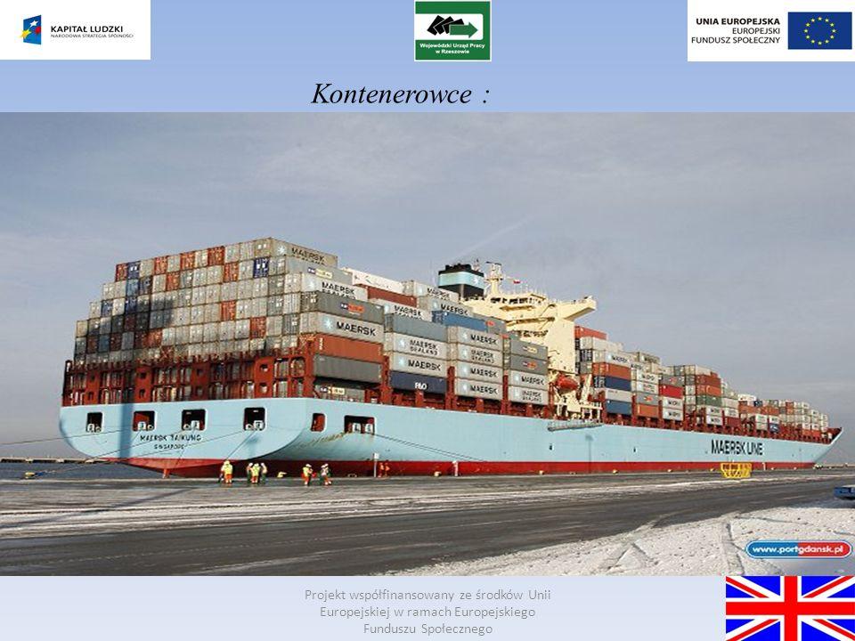 Projekt współfinansowany ze środków Unii Europejskiej w ramach Europejskiego Funduszu Społecznego Bulk carriers: